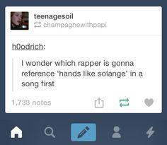 Hands like Solange