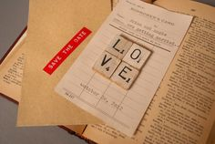 Candidly Pretty: {DIY LOVE} Library Card Save the Date
