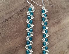 Swarovski and Seed Bead Earrings
