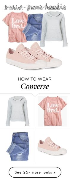 """In My Hood: Cozy Hoodies"" by ledawnat on Polyvore featuring Converse, J.Crew, Taya, RtA and Hoodies"