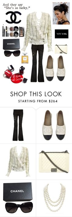 """""""Vintage Chanel"""" by kotnourka ❤ liked on Polyvore featuring Balmain, Chanel, Karl Lagerfeld and vintage"""