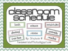 Not just a chevron classroom schedule. There are 7 different PDF files here! Everything you need for a chevron decorated classroom theme! Classroom Schedule, Classroom Labels, 4th Grade Classroom, Classroom Setup, Future Classroom, Classroom Organization, Chevron Classroom Decor, First Year Teachers, Beginning Of The School Year