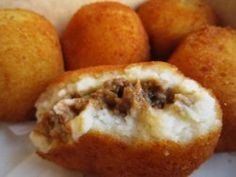 mmmm...i want some of these {potato balls} right now. {porto's bakery...BEST cuban bakery in LA}