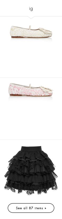 """""""ig"""" by blenm ❤ liked on Polyvore featuring shoes, flats, white, floral ballet flats, satin flats, flower print flats, embellished flats, white ballet shoes, flower shoes and ballerina shoes"""