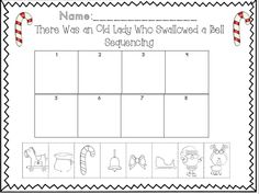 There was an old lady who swallowed a bell sequencing activity perfect for the holidays!