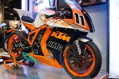 Chris Fillmore's Factory KTM RC8R race bike.