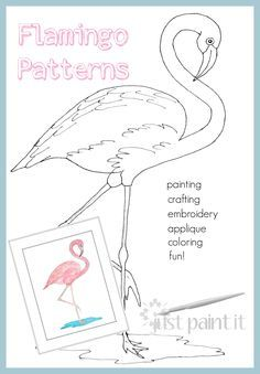 In honor of Flamingo Friday, here are TWO flamingo patterns for you to create your own flamingo celebration!