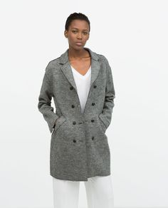 ZARA - WOMAN - BUTTONED WOOL COAT