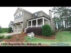 1434 Reynolds Dr.- Auburn, AL (Ashley Durham)  Beautifully-maintained home in Stone Creek with a GREAT floorplan! This former model home has tons of designer upgrades throughout. Charming front porch opens into lovely foyer with built-in bench seating & storage hooks, perfect for keeping your entryway organized! Great Room is large with hardwoods and wood-burning fireplace. Dining Room off foyer with wainscoting detailing. Kitchen with granite countertops, stainless steel appliances (all…