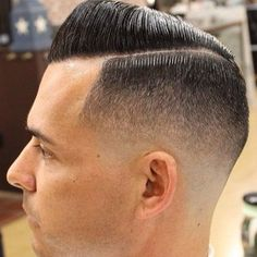 Short Comb Over Fade Hairstyle