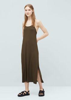 Langes, fließendes kleid | MANGO