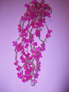 Pink Plastic Bead Necklace by 5DollarMaddness on Etsy, $4.00