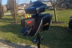 Gerard had some time on his hands, so he made this custom mailbox using recycled parts! Custom Mailboxes, Custom Harleys, House Projects, Harley Davidson, Recycling, Vans, Business, Outdoor Decor, Van