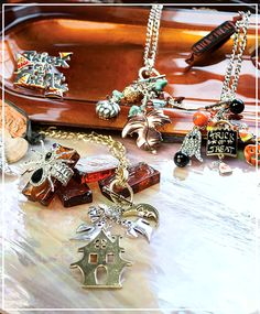 Today for the Countdown to #Market, we are featuring some of our new Fall and Halloween Jewelry! Including our new Toggle Necklaces!   Browse the Full Collection -