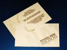 Coffee Stain business card