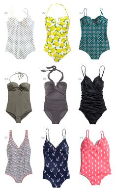 one-piece suits under $60 | the first three are pretty adorable