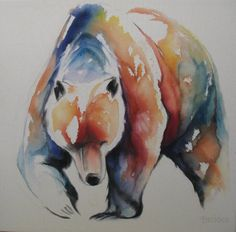 Water colored bear