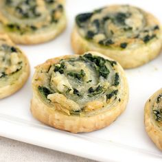 Spinach Gruyere Puff Pastry Pin wheels