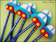 Vamos desenhar?? | Lápis com carrinhos são lembrancinhas do … | Flickr