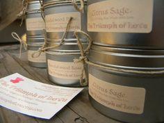 Set of 6 Soy Candles in 5 oz Travel Tins  Bulk by TheTriumphofLove, $48.00