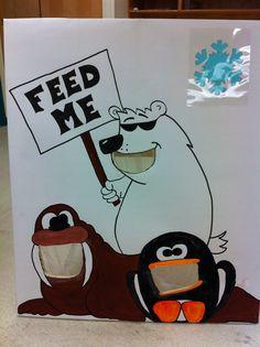 Carnival game - Bean bag toss, winterized. Original art work, Stacey Plesko, Port Coquitlam BC