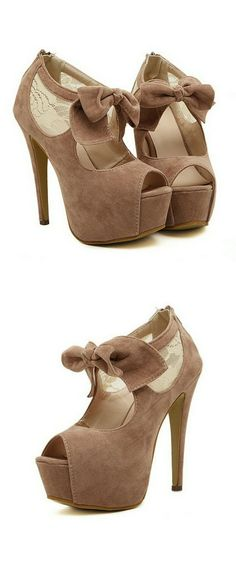 #fashion Taupe bow booties...