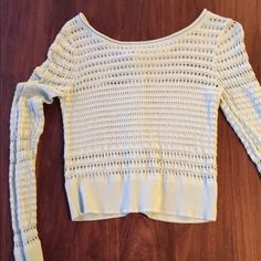 Very light mint green sweater Very light mint green, delicate knit sweater with buttons in back. Very cute. Worn only once. Size M. Olive & Oak Sweaters