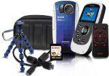 Kodak PlaySport (ZX5) Waterproof Pocket Video Camera Bundle (Includes Remote Control, Tripod, 4 GB Memory Card, HDMI Cable, and Camera Case) - Burton Bundle (2nd Generation)