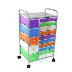 4D Concepts 15 Drawer Rolling Storage Cart & Reviews | Wayfair Supply