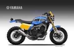 "Yamaha XSR 900 Street Tracker Dirtiest Sons ""Liveries"" Oberdan Bezzi #motorcycles #streettracker #motos | caferacerpasion.com"