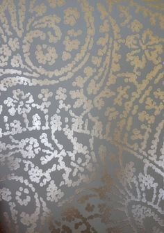 """ROMO Licia Wallcovering Silver Blue w328/04 Collection Samsara Wallcoverings Width 52 cms (20.5 """") Pattern Repeat Vertical: 72.7 cms (28.6 """") Wallpaper Samples, Repeat, Space, Rugs, Pattern, Silver, Blue, Collection, Ideas"""