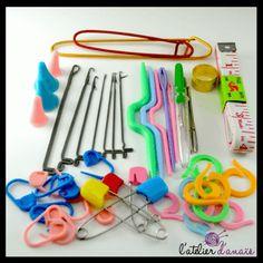 Kit crochet loquet ♥ Avec les accessoires de l'Atelier d'Anaïs, faites du crochet à la maison! Tous les accessoires en vente en ligne sur www.latelierdanais.com