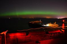 Aurora over the Solway Firth from Whitehaven