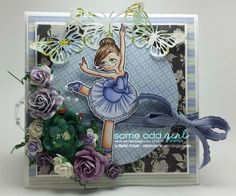 Here is my latest card using the new digi stamp called Ballerina Gwen from Some Odd Girl Stamps! Project Board, Ballerina, Stamps, Card Making, Frame, Projects, How To Make, Cards, Seals