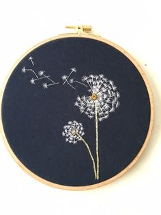 Embroidery hoop Cherry Blossoms, hand embroidered hand made one of a kind pink b. Hoop art Indian Jewellery machine embroidery linen with - Salvabrani how to make french knots embroidery hand embroidery stitches step by step Cherry tree blossom for A Simple Embroidery, Hand Embroidery Stitches, Modern Embroidery, Crewel Embroidery, Embroidery Hoop Art, Hand Embroidery Designs, Cross Stitch Embroidery, Machine Embroidery, Embroidery Ideas