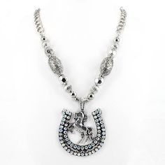 Necklace Western Cowgirl Rodeo Chunky Rhinestone Horse Shoe Womens Crystal New #ssfashion #Chain