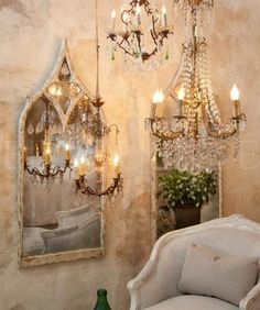 All Things Shabby and Beautiful~ chandelier
