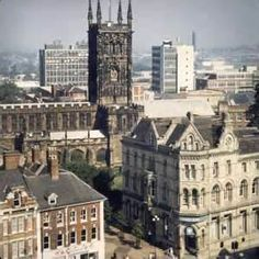 Aerial view of St Peter's Church, Wolverhampton St Peter's Church, Wolverhampton, West Midlands, England Uk, British Isles, Heritage Site, Aerial View, Old Pictures, Great Britain
