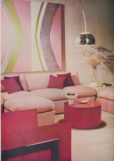A sophisticated pink palette, courtesy of Milo Baugham. The Peak of Chic®: Seventies Redux