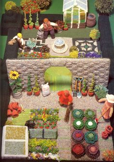 knitted gardens (This is adorable GG)