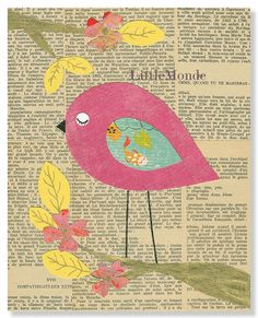 Baby Girl Nursery Art Retro Nursery Nursery Wall by LittleMonde, $16.00