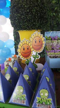 Caixa Pirâmide Festa Infantil Plants vs Zombies