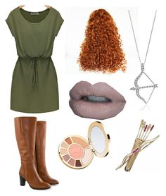 """""""Merida Disney Bound"""" by princessmal on Polyvore featuring Jilsen Quality Boots, tarte and BERRICLE"""