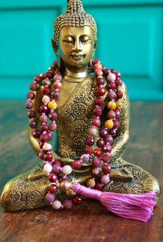108 Mala Beads Yoga Jewelry Spiritual Mala Necklace by BijaMalas