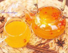 Праздничный чай из облепихи с апельсином