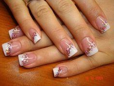 Francesa diagonal con glitter