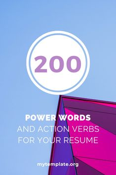 200 Power Words and Action Verbs For Writing Your Epic Resume Resume Summary, Resume Help, Resume Tips, Resume Power Words, Resume Words, Writing Process, Writing Tips, Action Verbs, Get Reading