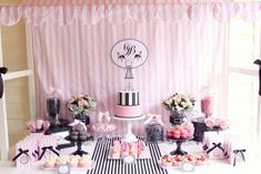 Pink Parisian Poodle Party... please let me have a daughter so I can have parties like this!