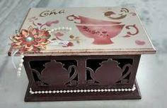 Resultado de imagem para caixa de chá
