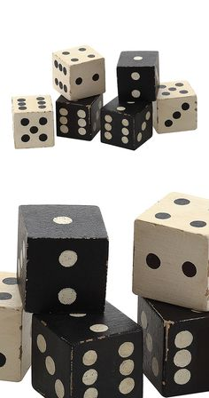 Charmingly hand-carved, this delightful set of decorative dice is a safe bet for a stylish décor motif. Beautifully finished in black and white, this set of Classic Casino Dice will add some character ...  Find the Classic Casino Dice Décor - Set of 6, as seen in the Members Only Collection at http://dotandbo.com/collections/members-only?utm_source=pinterest&utm_medium=organic&db_sku=114886